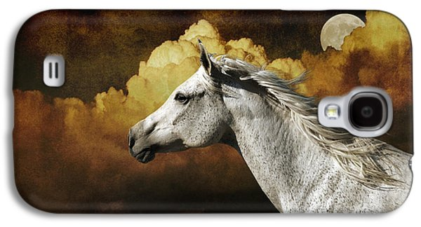 Photo Manipulation Galaxy S4 Cases - Racing the Moon Galaxy S4 Case by Karen Slagle