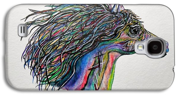 Wild Racers Galaxy S4 Cases - Racing the Wind ... A Story Painting Galaxy S4 Case by Eloise Schneider