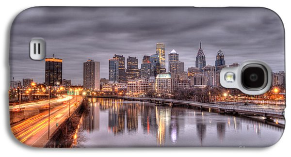 Williams Dam Galaxy S4 Cases - Racing to the City Lights - Philly Galaxy S4 Case by Mark Ayzenberg