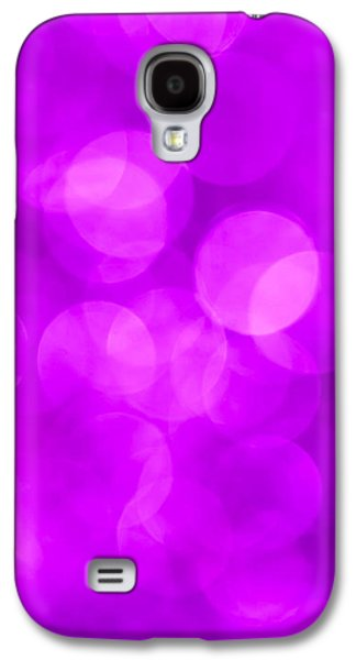 Glitters Galaxy S4 Cases - Radiant Orchid Abstract Galaxy S4 Case by Jan Bickerton