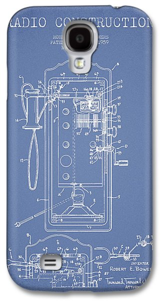 Radio Galaxy S4 Cases - Radio Constuction Patent Drawing From 1959 - Light Blue Galaxy S4 Case by Aged Pixel