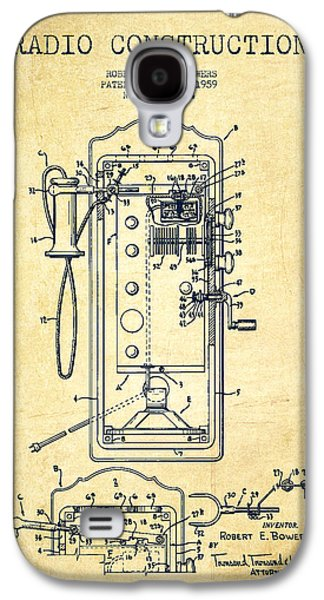 Radio Galaxy S4 Cases - Radio Constuction Patent Drawing From 1959 - Vintage Galaxy S4 Case by Aged Pixel