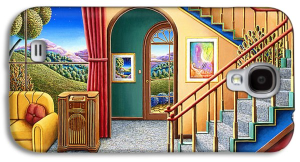 Staircase Paintings Galaxy S4 Cases - Radio Days 10 Galaxy S4 Case by Andy Russell