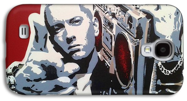 Eminem Paintings Galaxy S4 Cases - Radio  Galaxy S4 Case by Leon Keay
