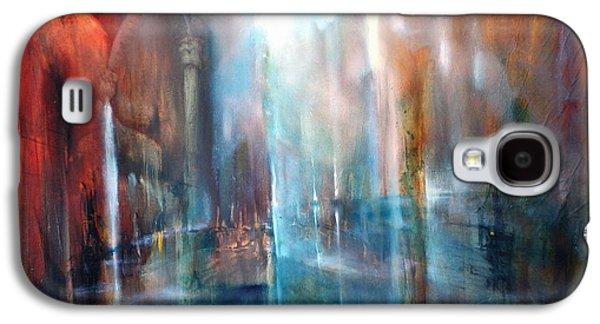 Church Pillars Paintings Galaxy S4 Cases - Raeume Galaxy S4 Case by Annette Schmucker