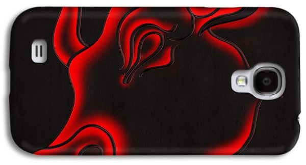 Brave Mixed Media Galaxy S4 Cases - Raging Bull Galaxy S4 Case by Bedros Awak