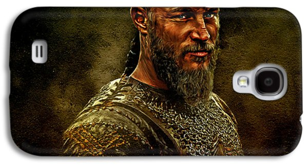 Character Portraits Mixed Media Galaxy S4 Cases - Ragnar Lothbrok Digital Oil Portrait Galaxy S4 Case by Marian Voicu