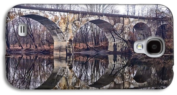 Rail Digital Galaxy S4 Cases - Rail Road Bridge at Phoenixville and Mont Clare Galaxy S4 Case by Bill Cannon