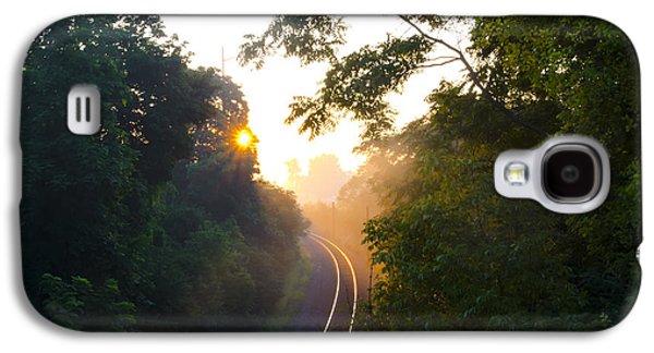 Rail Digital Galaxy S4 Cases - Rail Road Sunrise Galaxy S4 Case by Bill Cannon