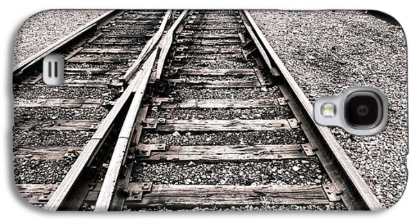 Lane Galaxy S4 Cases - Railroad Switch Galaxy S4 Case by Olivier Le Queinec