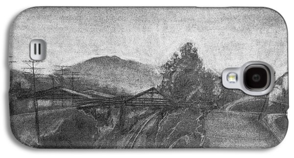 Abstract Collage Drawings Galaxy S4 Cases - Railroad to coal mine. Galaxy S4 Case by Jott Harris