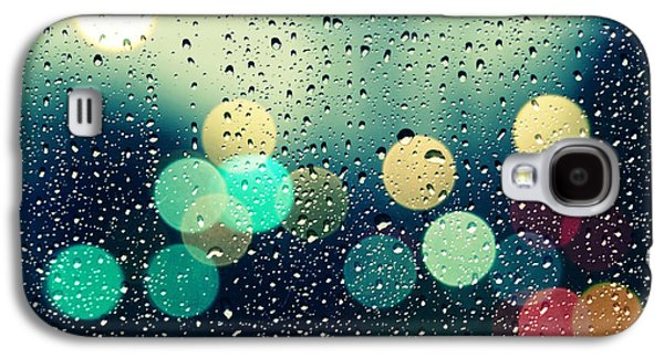 Abstract Rain Galaxy S4 Cases - Rain and the city Galaxy S4 Case by Beata  Czyzowska Young
