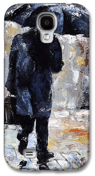 Rain Paintings Galaxy S4 Cases - Rain day #19 Galaxy S4 Case by Emerico Imre Toth