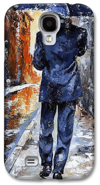 Business Paintings Galaxy S4 Cases - Rain day #20 Galaxy S4 Case by Emerico Imre Toth