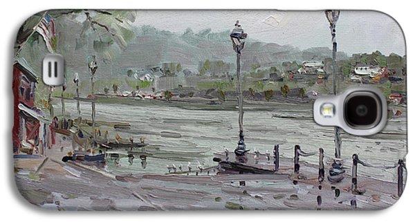 Silos Galaxy S4 Cases - Rain in Lewiston Waterfront Galaxy S4 Case by Ylli Haruni