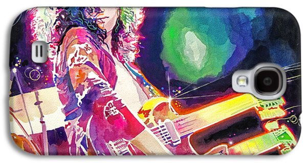 Led Zeppelin Paintings Galaxy S4 Cases - Rain Song Jimmy Page Galaxy S4 Case by David Lloyd Glover