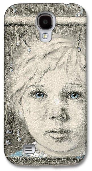 Contemplative Mixed Media Galaxy S4 Cases - Rain  Galaxy S4 Case by Terry Webb Harshman