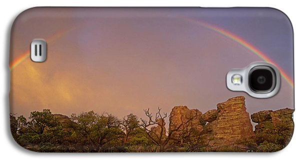 Surreal Landscape Photographs Galaxy S4 Cases - Rainbow at Chiricahua Galaxy S4 Case by Keith Kapple