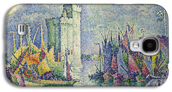 Pointillist Paintings Galaxy S4 Cases - Rainbow at the Port of La Rochelle Galaxy S4 Case by Paul Signac