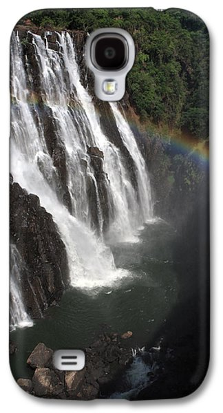 African Heritage Galaxy S4 Cases - Rainbow At Victoria Falls Galaxy S4 Case by Aidan Moran
