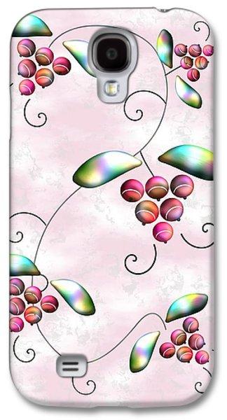 Greeting Digital Art Galaxy S4 Cases - Rainbow Berries Galaxy S4 Case by Anastasiya Malakhova