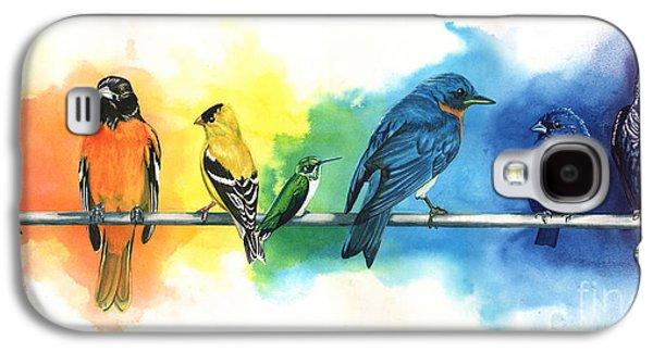 Rainbow Birds Galaxy S4 Case by Antony Galbraith