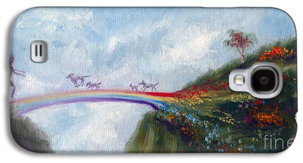 Dog Paintings Galaxy S4 Cases - Rainbow Bridge Galaxy S4 Case by Stella Violano