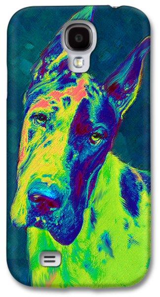 Rainbow Dane Galaxy S4 Case by Jane Schnetlage