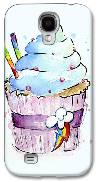 Rainbow Galaxy S4 Cases - Rainbow-Dash-Themed Cupcake Galaxy S4 Case by Olga Shvartsur