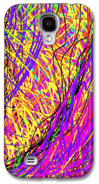 Daina White Galaxy S4 Cases - Rainbow Divine Fire Light Galaxy S4 Case by Daina White