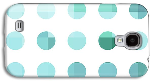 Modern Abstract Galaxy S4 Cases - Rainbow Dots Aqua  Galaxy S4 Case by Pixel Chimp
