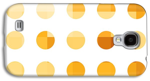 Modern Abstract Galaxy S4 Cases - Rainbow Dots Orange Galaxy S4 Case by Pixel Chimp