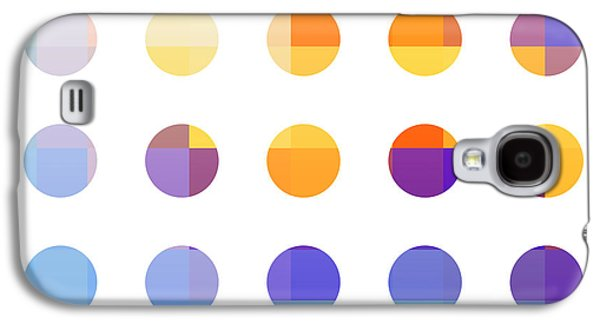 Modern Abstract Galaxy S4 Cases - Rainbow Dots  Galaxy S4 Case by Pixel Chimp