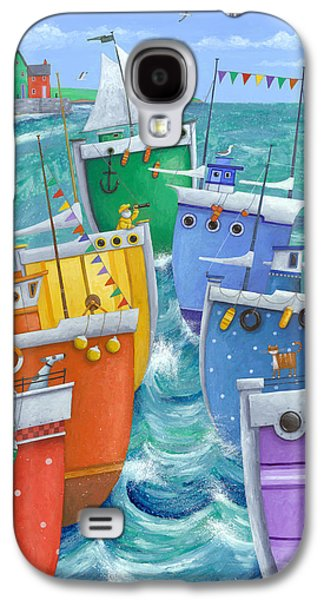 Drawing Galaxy S4 Cases - Rainbow Flotilla Galaxy S4 Case by Peter Adderley