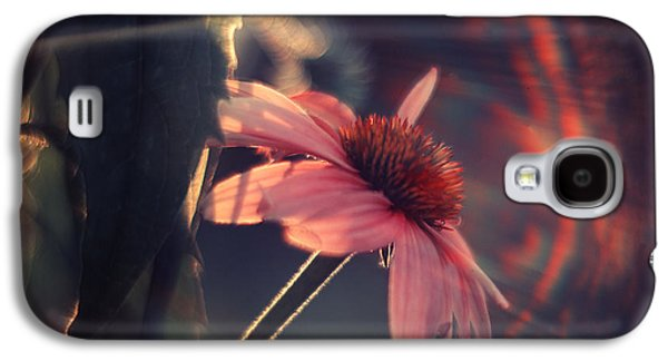 Rainbow Galaxy S4 Cases - Rainbow Flower Galaxy S4 Case by Magda  Bognar