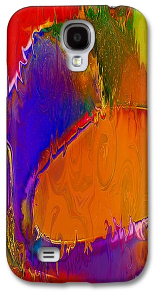 Abstract Digital Mixed Media Galaxy S4 Cases - Rainbow in a Bottle Galaxy S4 Case by Omaste Witkowski