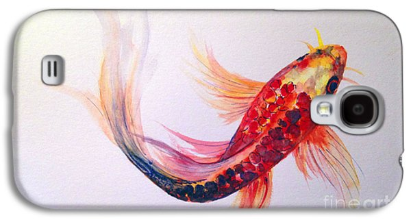 Butterfly Koi Galaxy S4 Cases - Rainbow Koi Galaxy S4 Case by Lauren Heller