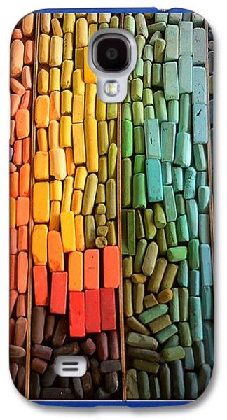 Abstract Digital Mixed Media Galaxy S4 Cases - Rainbow of Pastel Chalk  Galaxy S4 Case by Kae Cheatham