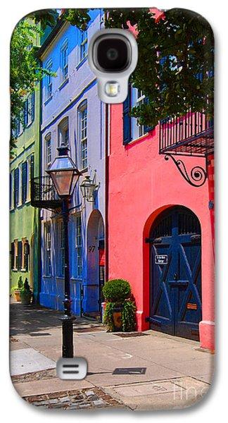 Historic Home Galaxy S4 Cases - Rainbow Row Charleston Galaxy S4 Case by Skip Willits