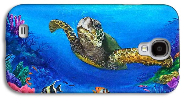 Triggerfish Paintings Galaxy S4 Cases - Rainbow Reef Galaxy S4 Case by Kathleen Kelly Thompson