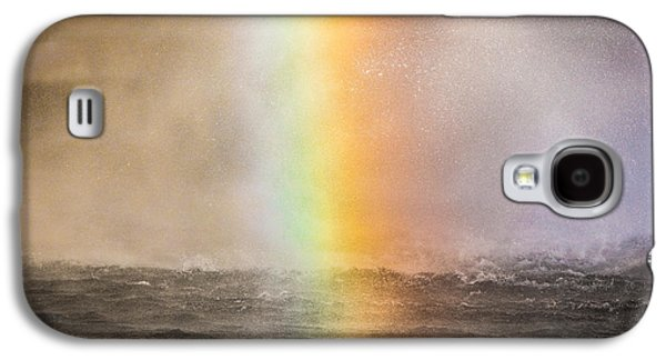 Landscapes Photographs Galaxy S4 Cases - Rainbow, Seljalandsfoss Waterfall Galaxy S4 Case by Panoramic Images