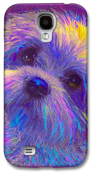 Puppy Digital Art Galaxy S4 Cases - Rainbow Shih Tzu Galaxy S4 Case by Jane Schnetlage