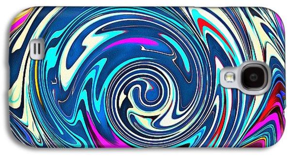 Catherine White Digital Galaxy S4 Cases - Rainbow Splattered Monkey Galaxy S4 Case by Catherine Lott