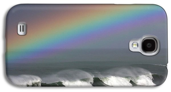 Steamer Lane Galaxy S4 Cases - Rainbow Storm Galaxy S4 Case by Ru Tover