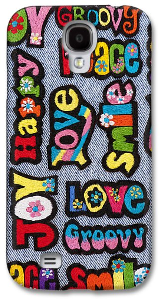 Psychedelic Photographs Galaxy S4 Cases - Rainbow Text Galaxy S4 Case by Tim Gainey