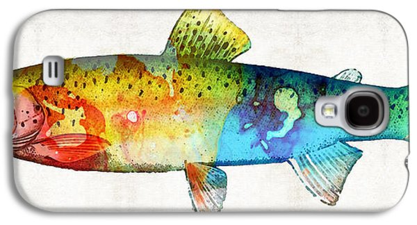 Rainbow Trout Galaxy S4 Cases - Rainbow Trout Art by Sharon Cummings Galaxy S4 Case by Sharon Cummings
