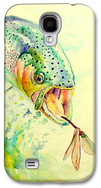 Salmon Paintings Galaxy S4 Cases - Rainbow Vs Dragon  Galaxy S4 Case by Yusniel Santos
