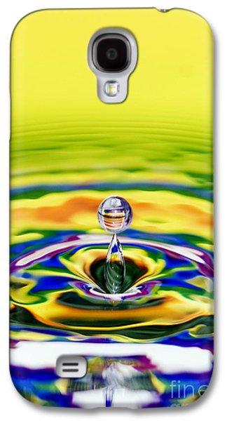 Rainbow Water Drop Galaxy S4 Case by Tim Gainey