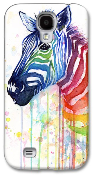 Wall Decor Galaxy S4 Cases - Rainbow Zebra - Ode to Fruit Stripes Galaxy S4 Case by Olga Shvartsur