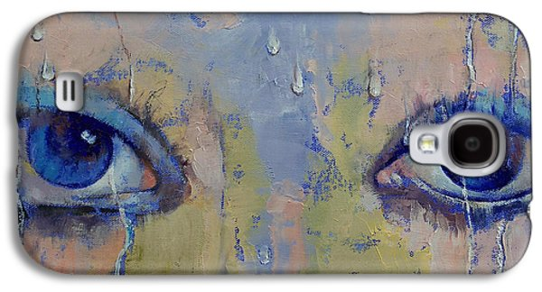 Surrealistic Paintings Galaxy S4 Cases - Raindrops Galaxy S4 Case by Michael Creese